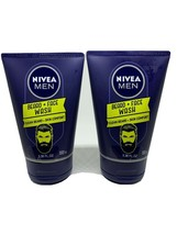 2 Nivea 3.38 Oz Men Clean Beard & Skin Comfort Face Wash 0% Ethylalcohol Formula - $25.15