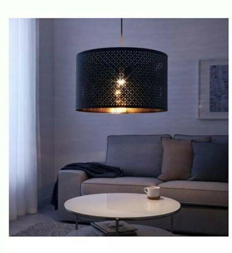 "IKEA NYMÖ Lamp shade, blue, brass color, 23 """