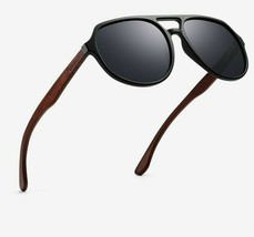 Vintage Square Sunglasses Wood for Men Coating Mirror Glasses Fashion Ey... - $22.99