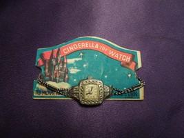 Cinderella Toy Watch 1950s 1960s Vintage Silver Tone Stamped Metal Elast... - $17.82