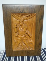 Vintage Wood Carving Home Decor Wood Sculpt Wall Mountable Picture - $74.25