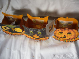 Bethany Lowe Halloween Sassy Cat, Owl and Pumpkin Small Buckets no. LC3671 image 3
