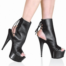 Sexy YITA lace-up platform booties, 15 cm heels, stiletto, US size 7.5-1... - $99.99