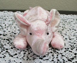 "Peanut the Pink Velour Elephant by Russ 9-1/2"" USED - $5.93"