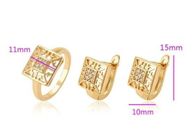 Medical gold  18k jeweleryset ( ring available sizes 7,8,9.10 )Xuping ... - $7.37