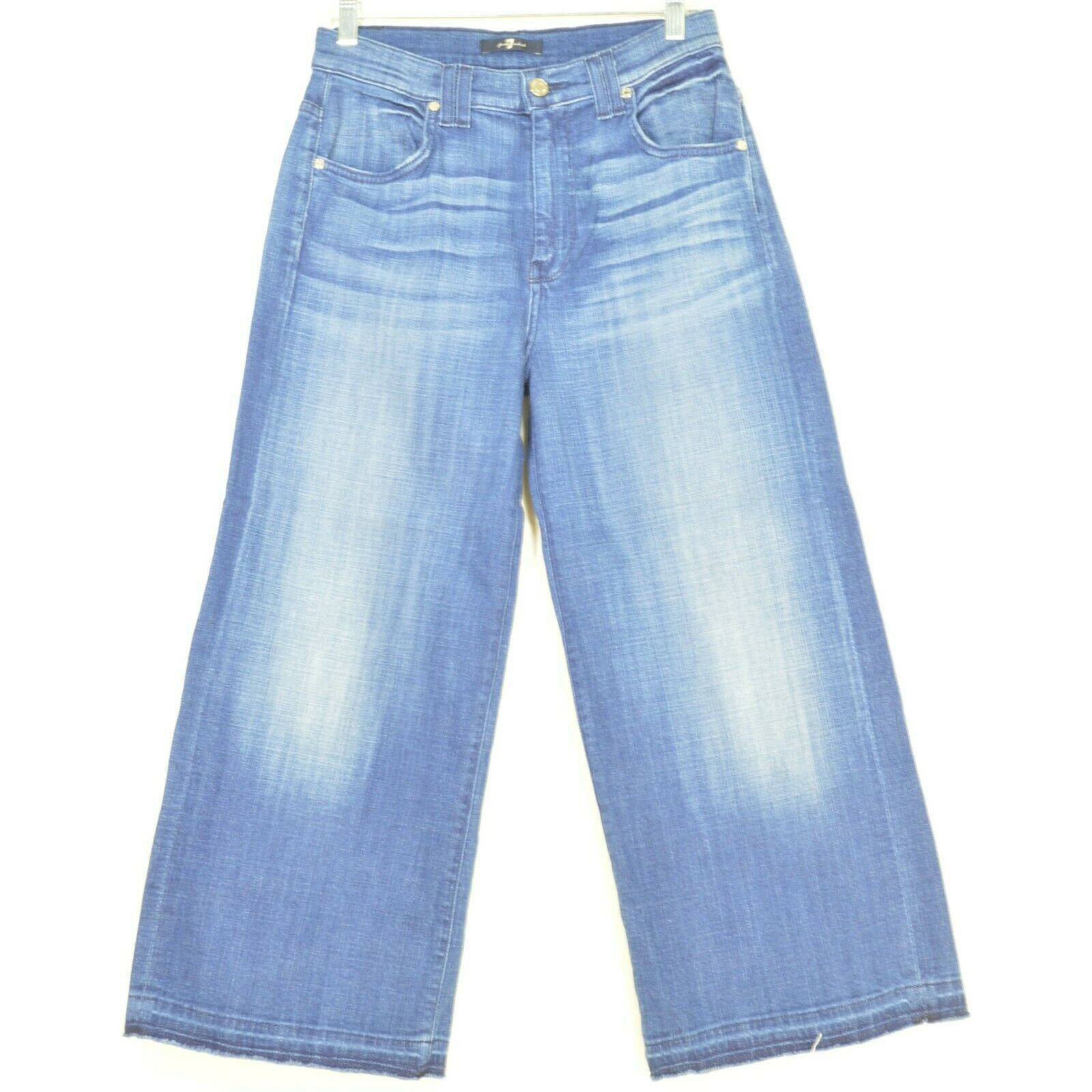 7 For All Mankind jeans cropped 29 x 24 NWT raw hem USA