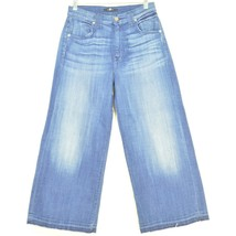 7 For All Mankind jeans cropped 29 x 24 NWT raw hem USA - $59.39