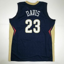 New ANTHONY DAVIS New Orleans Blue Custom Stitched Basketball Jersey Men... - €26,84 EUR