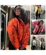 Mens Womens Metallic Jacket Silver Red Pink Gold Blue Winter Ski Nylon G... - $139.00