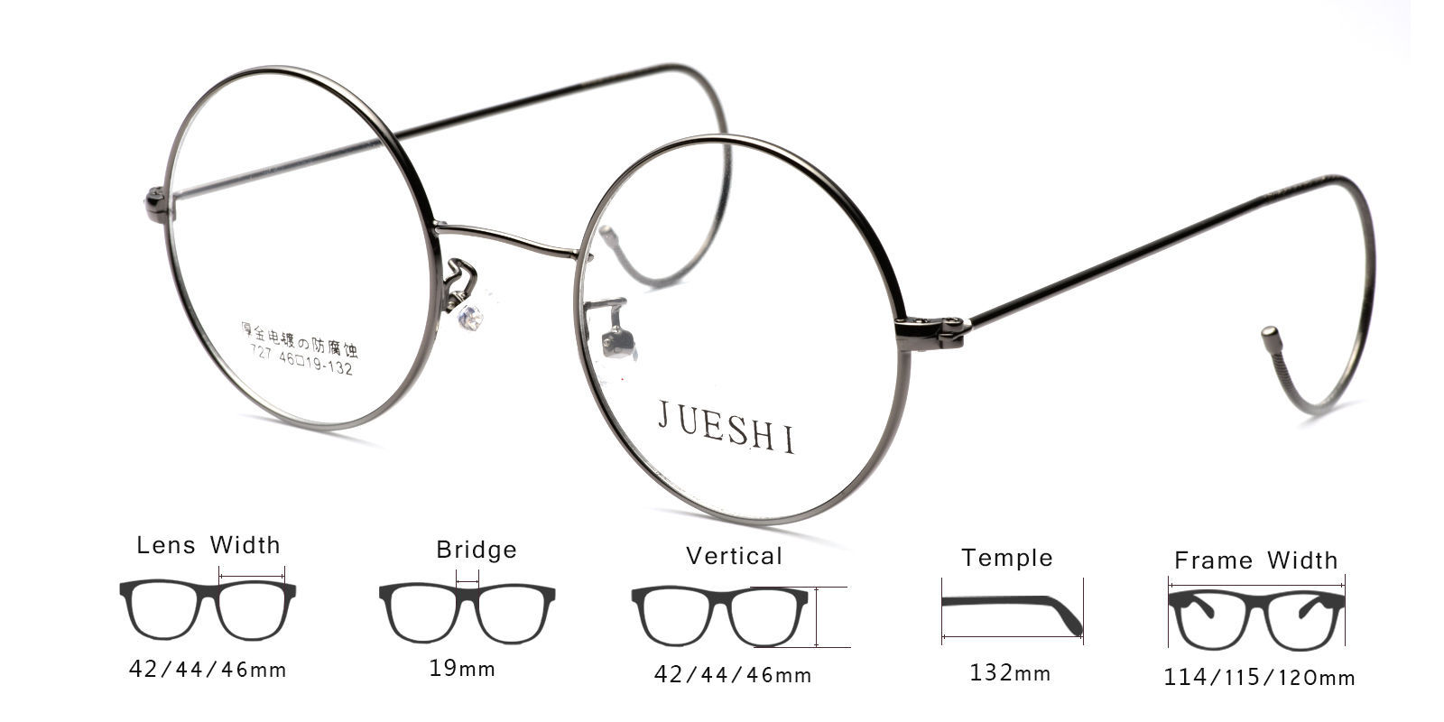c024f6c5fa8 Vintage Cable Temple Round Eyeglass Frames Spectacles Rx Retro Mens Womens  Kids - Eyeglass Frames