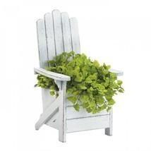 White Adirondack Chair Planter - $27.44
