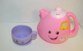 Fisher Price laugh n learn tea set replacement singing tea pot 1 cup - $9.89