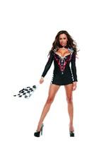 Sexy Starline Black Drag Race Diva Driver Mini Dress Costume S3042 - $57.99