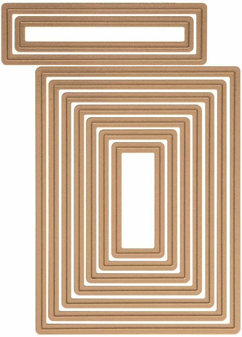 Spellbinders Nestabilities Card Creator, A2 Matting Basics B, Dies, Set of 9