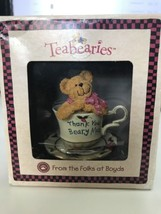 Boyds Collection Teabearies - H. B. Teabearie Thank You Beary Much #24306  - $28.20