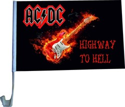 Flag rock band AC\DC mount for car 30x45 cm - $15.84