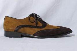 Mezlan Men's Brown Vero Cuoio Suede Wingtip Oxford Dress Shoes 10.5M - $107.66