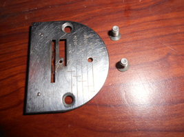 Singer 301A Throat Plate, Complete #170152 w/2 Mounting Screws - $15.00