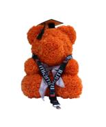 Graduation Orange Rose Bear Cap & Tassel w/ FREE Miami Lanyard Class of ... - $158.39