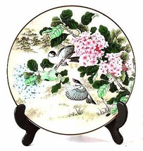 Franklin Porcelain oriental plate Pure Brightness from Cathay Birds Wei - $36.34