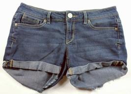 Aeropostale Women's Midi Booty Shorts Size 2 Solid Blue - $17.82