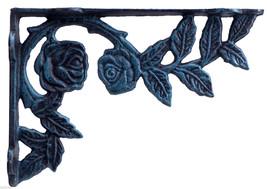 "Rose Bush Wall Shelf Bracket Verdigris Cast Iron Brace DIY Custom Shelves 8.75"" - $17.99"