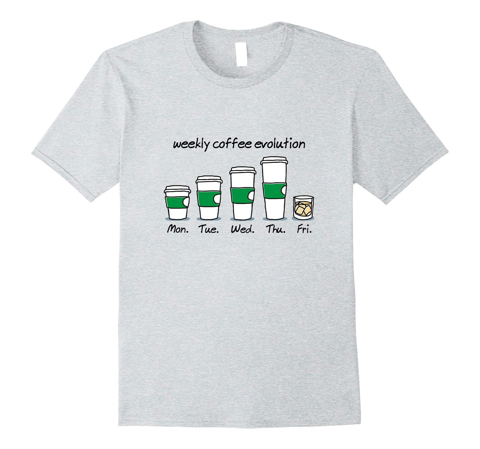 New Shirts - Weekly Coffee Evolution Drink T-Shirt Men image 3