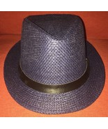 Punk Mens Straw Casual Fedora Trilby Cuban Style Upturn Short Brim Hat NWOT - $14.20