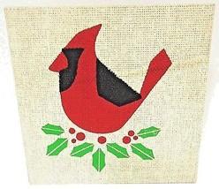 HALLMARK - RUSTIC - VINTAGE - CHRISTMAS - BIRD - BURLAP - WOOD - SIGN - ... - $3.59