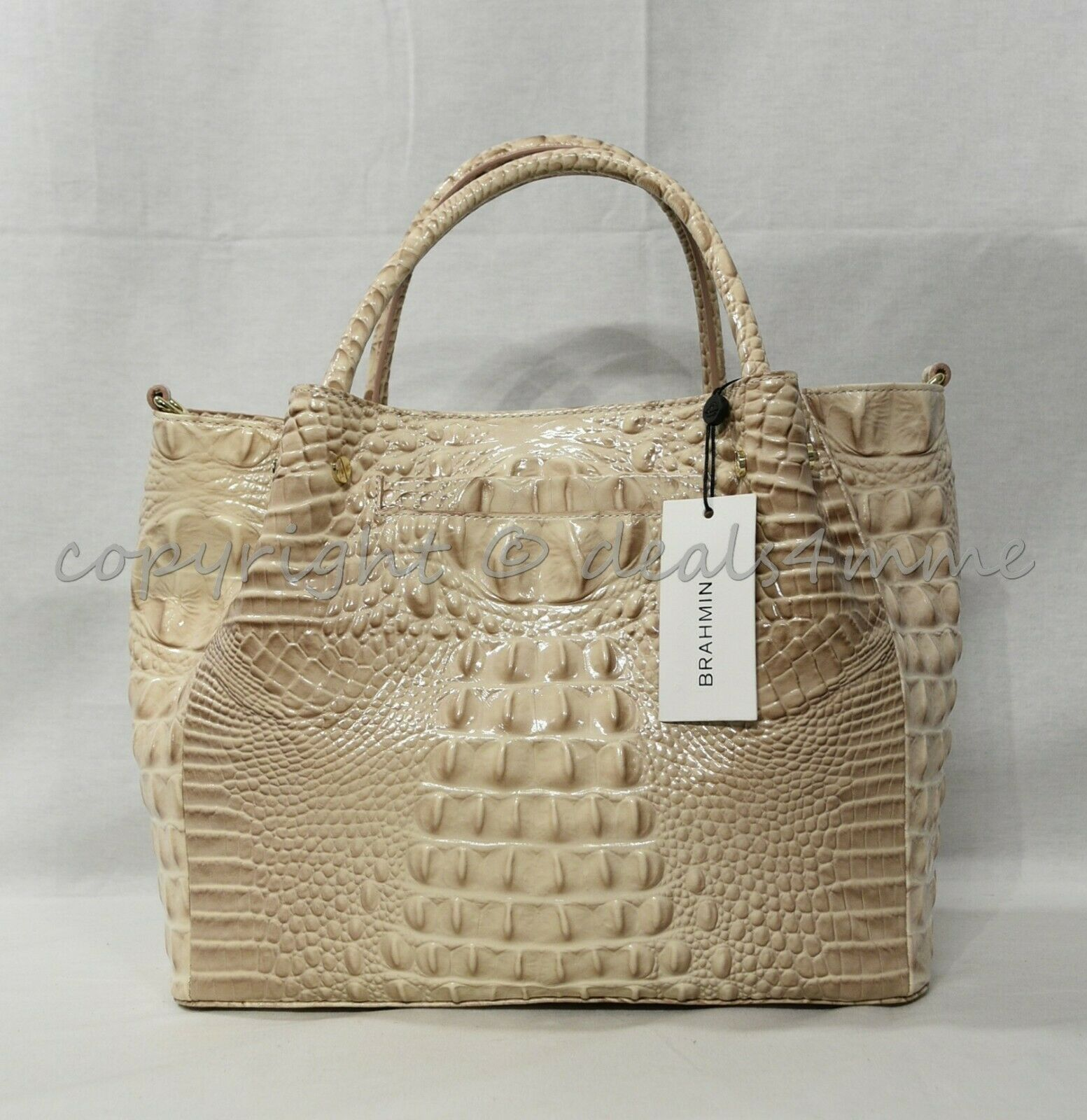 NWT Brahmin Small Mallory Leather Satchel/Shoulder Bag in Blossom Melbourne image 8