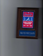 Braves World Series Banner Plaque Baseball Champions Champs Boston Milwaukee - $3.95