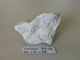 39.4g Amazing Howlite Stone Slab Rough White Semi Precious Gemstone SPEC... - $7.07
