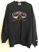 Logo Athletic Dallas Cowboys Sweatshirt 1990's Vintage Heavy Embroidered... - $46.55