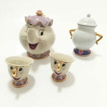 Cartoon Beauty And The Beast Teapot Mug Mrs Potts Chip Tea Pot Cup 2PCS ... - $23.75+