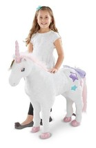 Lifelike Unicorn Stuffed Animal For My Princess Little Girl Ride On Plus... - $127.98
