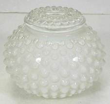 Vintage WHITE HOBNAIL GLASS CEILING LIGHTING FIXTURE SHADE GLOBE - $14.99