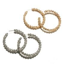 2018 New Design Women Hoop Earrings Shiny Personality Geometric Round Ex... - $20.57