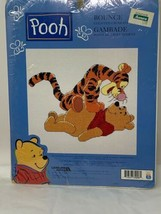 "New Leisure Arts Disney Pooh and Tigger ""Bounce"" Counted Cross Stitch Kit Sealed - $10.88"