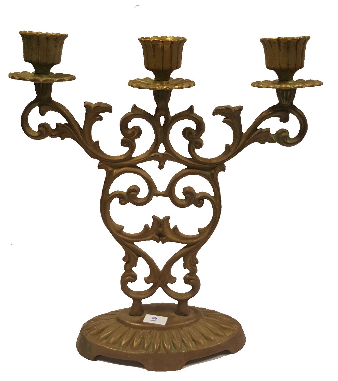 Judaica Shabbat Candlestick Candle Holder Bronze Vintage Israel Hen Holon 1960's