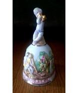 R. Capodimonte Italy Porcelain Bell - Slight Damage - Vintage Piece - $19.99