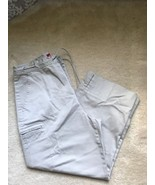 Gloria Vanderbilt Chino Khaki Capri Pants With Draw String Waist Size 12 - $8.59