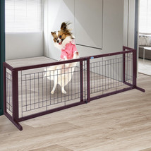 NEW! Dog Gate Fench Solid Wood Construction Indoor  - $61.61