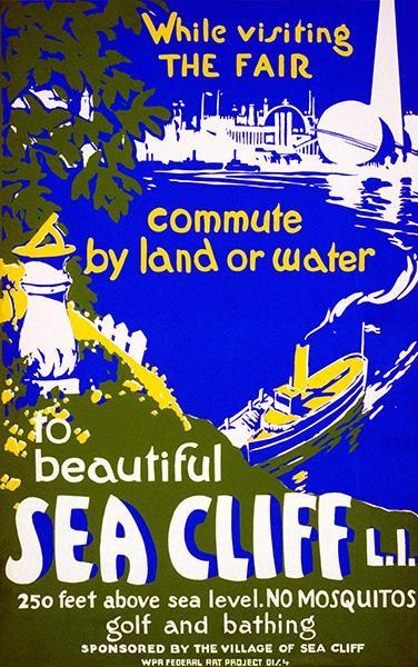Primary image for Beautiful Sea Cliff - Long Island - New York - 1939 - WPA Travel Poster