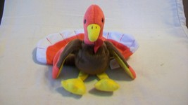 Gobbles the Turkey Ty Beanie Baby DOB November 27, 1996 2 errors Tush Ta... - $13.85