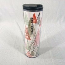 Starbucks Christmas Holiday Trees 2017 Acrylic Tumbler 16OZ Coffee Espre... - $17.13