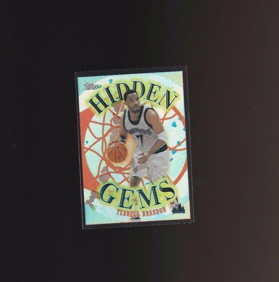2000-01 Topps Hidden Gems #HG8 Terrell Brandon Minnesota Timberwolves