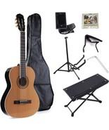 ADM Full Size Nylon-String Classical Guitar with Gig Bag, E-tuner, etc, ... - $161.98