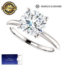 2.00 Carat Moissanite Forever Classic Solitaire Ring 14K Gold Charles & ... - $399.00
