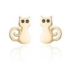 5 pairs of Cat Golden Stud Earring Stud (NED209A) - $12.50