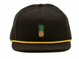 Vans Men's Pineapple Unstructured Hat Black One-Size cap 80's new nwt skate - $23.33